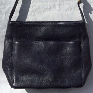 Coach Sonoma Pocket Zip Black Leather No 4924